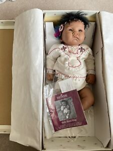 Rare Ashton Drake Baby Raven Wing, Native American Doll. Brand New In Box