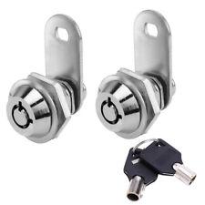 58 Tubular Cam Lock Cabinet Desk 90 Degree Turn 2 Key Pull Keyed Alike Drawer