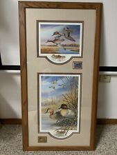 Unique 2 In 1 Terry Doughty 1991 Signed & Numbered Prints W/ WI Waterfowl Stamps