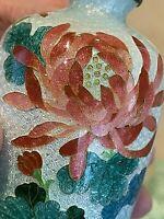 """Antique/Vintage Japanese Cloisonne Foil  Vase. Floral Scene 7"""""""