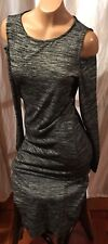 THEA CHELSEA THEADORE Knit Sweater Dress Cut Out Shoulder  Anthropologie Sz S