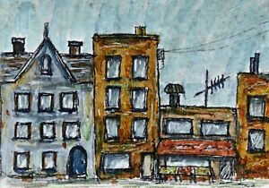 Original ACEO Ink/Graphic Marker Painting By Pat Coyne