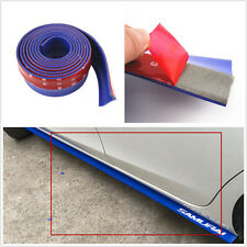 2.5m Blue Rubber Foam Autos Front Bumper Valance Splitter Spoiler Protection Kit