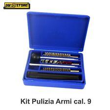 Kit di Pulizia Armi Pistole cal. 9 mm MEGA LINE Made in Italy Scovolini Tamponi