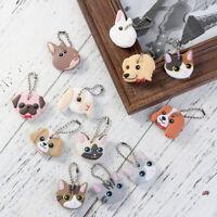 Cute Minion Animal Shape Key Top Head Cover Cap Rubber Pug Key Chain Finding PVC