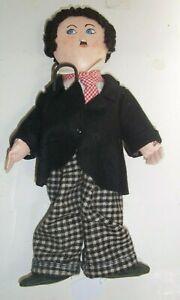 "Vintage Charlie Chaplin Doll Cloth 13"""