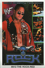 The Rock RED Original Funky Posters Wrestling MINI Promo Piece 3x5