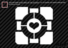 (2x) Weighted Companion Cube Sticker Decal portal 2
