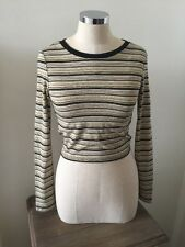 top shop size 6  gold stripe preppy top H&M