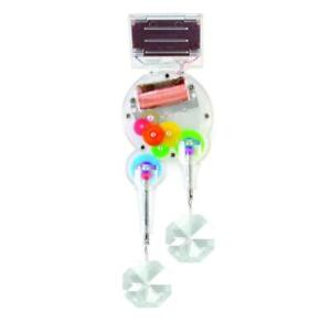 Kikkerland Solar Powered Window Decoration Double Rainbow Maker With Crystals
