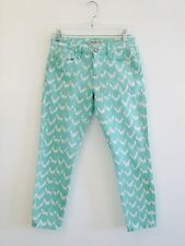 Turquoise White Patterned Mavi Jeans Cropped B16 Size 27 / 4