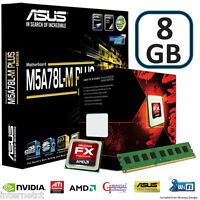 AMD FX8320 CPU 8GB DDR3 ASUS M5A78L-M PLUS USB MOTHERBOARD GAMING UPGRADE BUNDLE