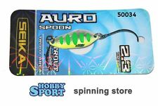 AURO SPOON SEIKA  TUBERTINI  col. SILVER GREEN 50034 gr 2,3  TROUT AREA SPINNING