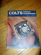VINTAGE - NFL WORLD CHAMPIONS BALTIMORE COLTS-BALTO. SUN INSERT/ MAG. - 1971