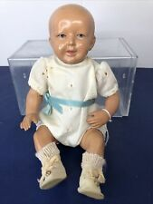 """9"""" Antique Vintage All Celluloid 1940's? German Baby Doll """"23 Germany"""" Jointed L"""