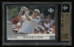 2002 Phil Mickelson BGS 9.5 Upper Deck Silver Rookie Rc #41 *NICE* Invest NOW