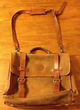 Vintage Timberland Messenger Bag Men's Heavy Duty Leather Should Bag Briefcase