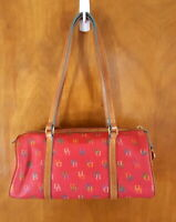 DOONEY & BOURKE Pink Red Logo Signature Vintage Shoulder Bag Doctor Handbag