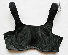 BNWT NEXT NEW LADIES black grey sport support running excercise bra size 34 A