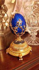 Igor Carl The Faberge Musical Firebird Egg .925 Sterling Silver Franklin Mint