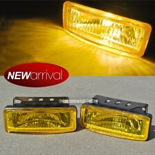 Fit Miata 5 x 1.75 Square Yellow Driving Fog Light Lamp Kit W/ Switch & Harness