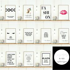 More details for fashion beauty wall art prints. salon designer quotes bedroom pictures make up