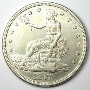 1877-S Trade Silver Dollar T$1 - Choice AU Details - Rare Coin!