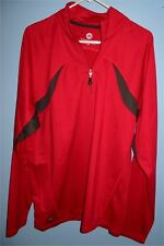 Men's Large Stormtech Performance 1/4 Zip Up Athletic Sports Jacket Red