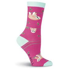 Sloth Love K Bell Trouser Crew Socks New Women Size 9-11 Hanging Around Fashion*