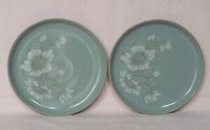 Denby, Blue Dawn, 2x Salad / Dessert Plates,  21cm / 8¼ inches diameter - Set A