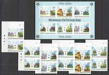 D0554 IMPERFORATE 2005 LAOS ARCHITECTURE CEPT FIRST EUROPA STAMPS KB+2SET MNH