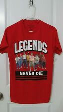 New The Sandlot Legends Never Die T-Shirt Regular Size Small Beautiful Red Nwt