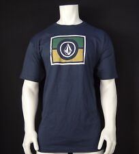 NEW VOLCOM SURFING CUBE COLORED NAVY MENS SPORT T SHIRT RVLC-203