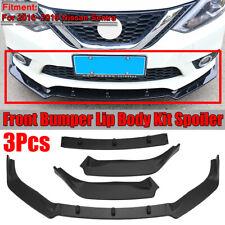For 2016-2019 Nissan Sentra 3PCS Front Bumper Lip Body Kit Spoiler Splitter