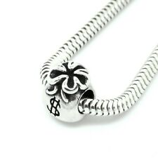 Money Bag Dollars Fortune Solid 925 Sterling Silver European Charm Bead