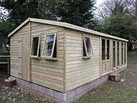 20 x 10 Apex 19mm Tanalised t&g workshop,shed,garden room