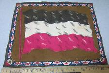 Vintage 1910-1915 Cigar Box Felt silk flag, Germany, 8 x 10 inch, Old style flag