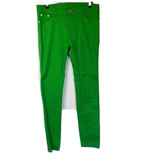 NEW Green Lime Size 30 Jeans Cotton Slim Fit Straight Leg Pockets