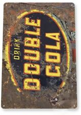 DOUBLE COLA TIN SIGN CHATTANOOGA TENNESSEE SKI CHASER ORANTA DRY SUN DROP