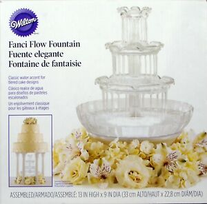 """Wilton Fanci Flow Tabletop Water Fountain with Lights for Tiered Cakes, 13"""" x 9"""""""
