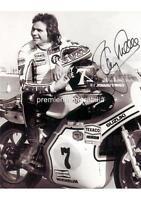 MOTOR SPORT LEGEND & WORLD CHAMPION SUZUKI BARRY SHEENE SIGNED (PRINTED) PRINT