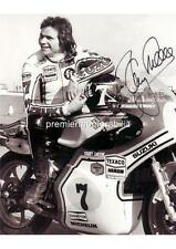 SPORT MOTORISTICI legenda & WORLD CHAMPION Suzuki Barry Sheene firmato (stampato) stampa