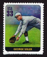 UNITED STATES, SCOTT # 3408-E, SINGLE STAMP OF GEORGE SISLER, BASEBALL LEGEND