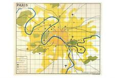 REPLICA METRO MAP of PARIS in 1949 POSTCARD - FRENCH LANGUAGE - NEW & PERFECT