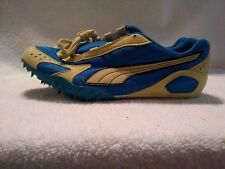 PUMA Men's Track Spikes/Shoes Size US 7 1/2 Blue White New w/Extra Spikes &