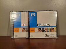 HP CD-RW Rewritable 700MB Data 80 Min. Video 2 Pack NEW