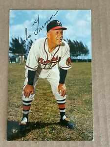1950s Bill and Bob Postcard Milwaukee Braves Charlie Grimm Post Marked 1955