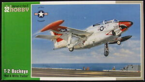 Special Hobby Models 1/32 NORTH AMERICAN T-2 BUCKEYE Red & White Trainer