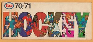 1970-71 ESSO HOCKEY SCHEDULE SEASON ALL GAMES AND ALL SCORE WROTE