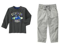 Gymboree Hop N Roll Captain of the Sea Tee Shirt & Gymster Pants Set Boys 5T NWT